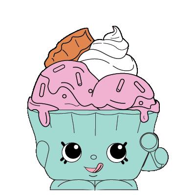 Shopkins #SE_013 - Ice Cream Queen - a Exclusive Shopkin