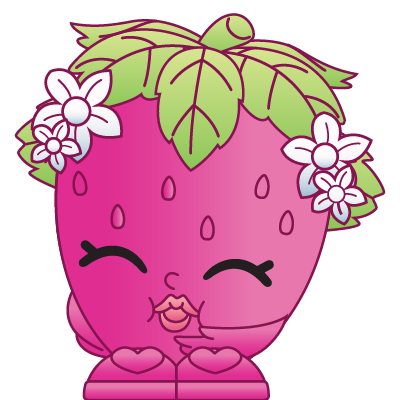 Shopkins 1 003 strawberry kiss a rare shopkin for Strawberry kiss shopkins coloring page